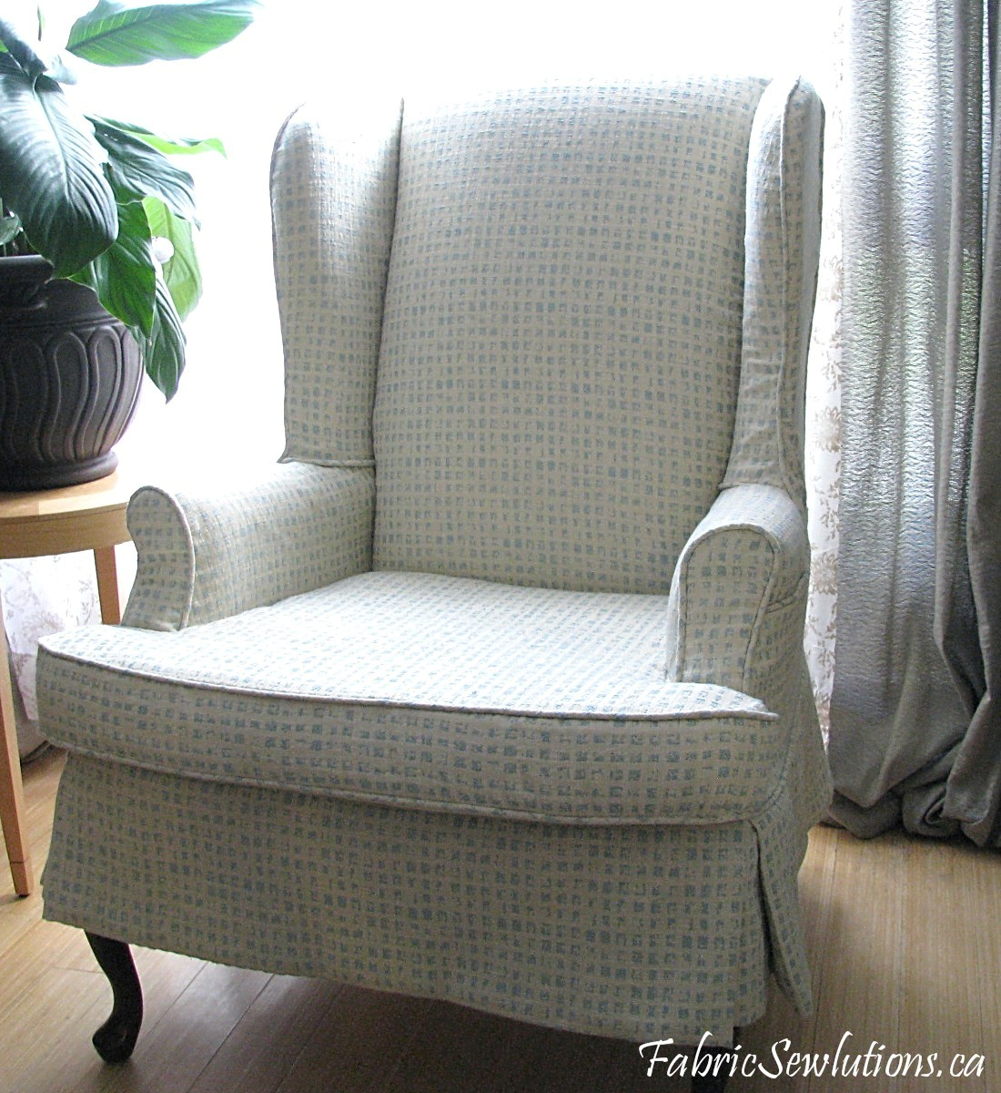 wingback chair slipcover