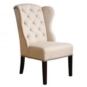 wingback dining chair l