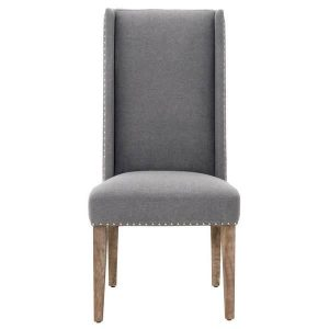 wingback dining chair armless dining grey wingback chair