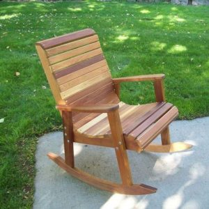 wood outdoor rocking chair p