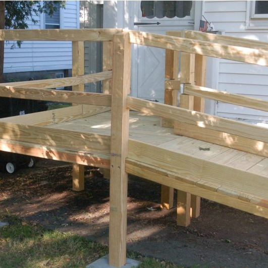 wood wheel chair ramp