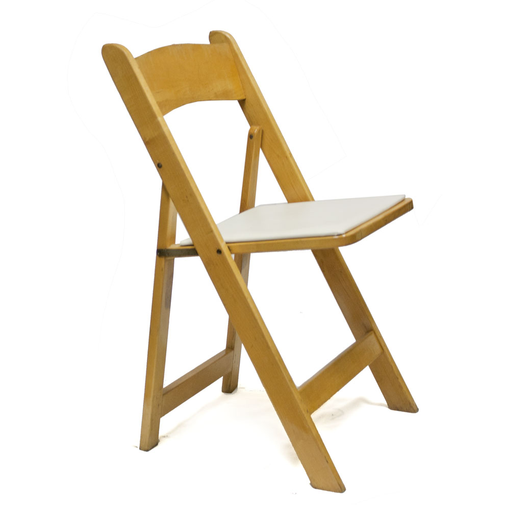 wooden folding chair wood padded folding chair natural
