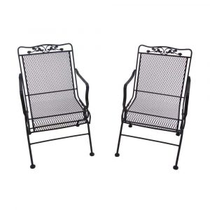 wrought iron rocking chair glenbrook patio action chair pack of
