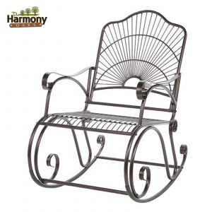 wrought iron rocking chair rocker wrought iron outdoor patio porch new furniture rocking chair backyard new