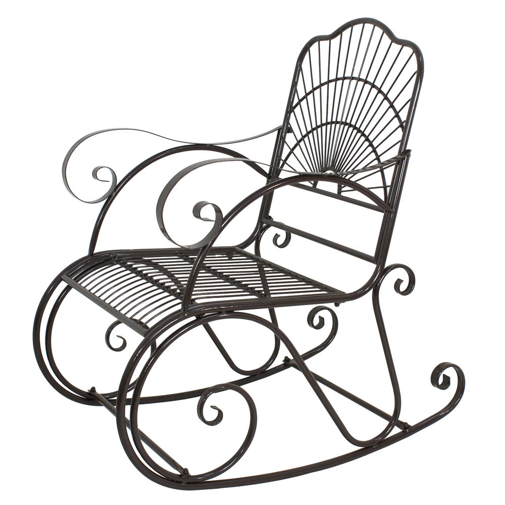 wrought iron rocking chair s l