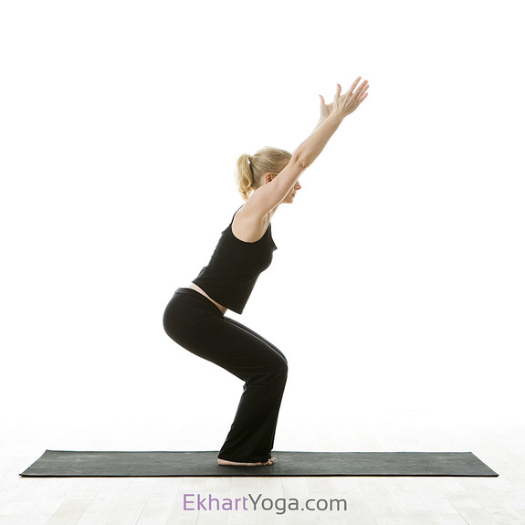 yoga chair posture powerful pose chair pose utkatasana