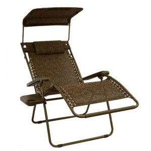 zero gravity outdoor chair gfc wj bliss extra wide outdoor zero gravity chair with sun shade and cup tray cocoa brown jaquard
