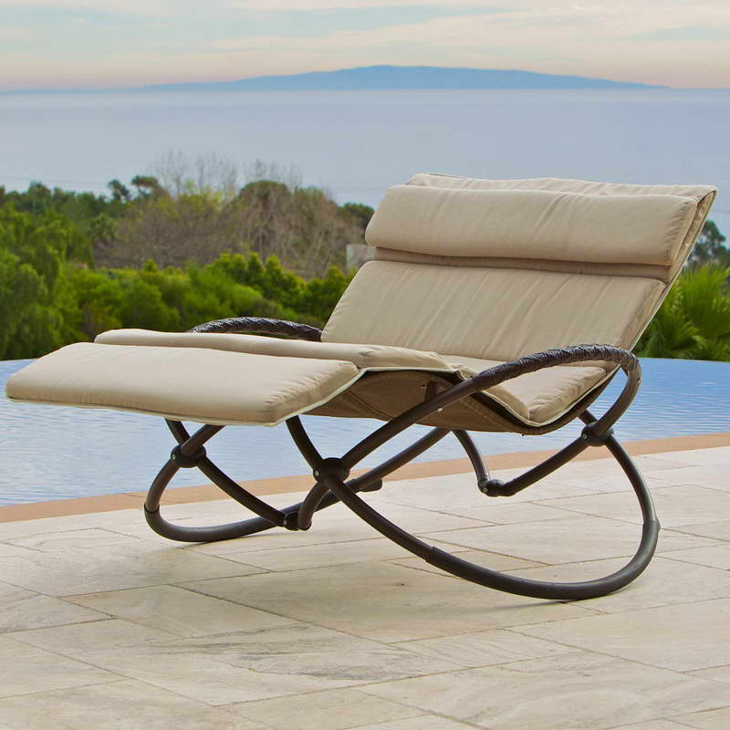 zero gravity patio chair iron outdoor folding lounge chair